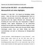 Oral-B auf der IDS 2015 – Pressemitteilung